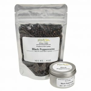certified organic black pepper from Sri Lanka
