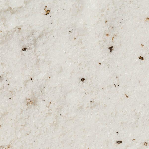 close up of black truffles and salt