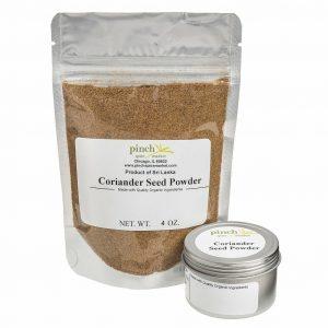 tin or bag of coriander seed organic