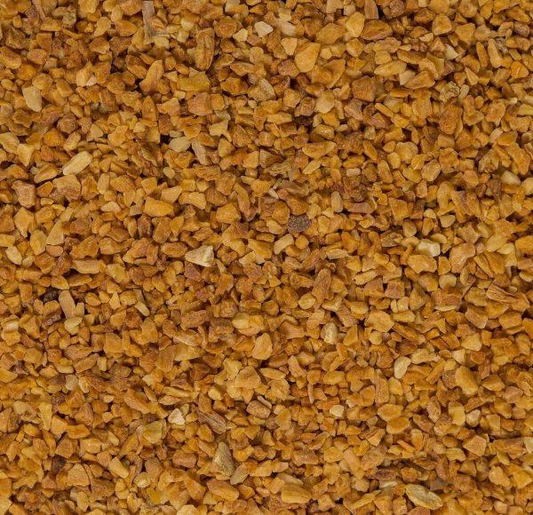 close up of organic garlic granuals
