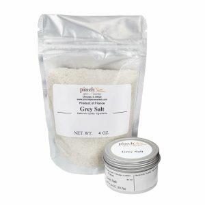 grey salt from clay ponds