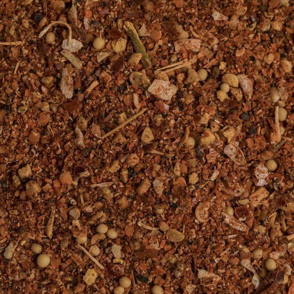 close up of hot piri piri chicken spice
