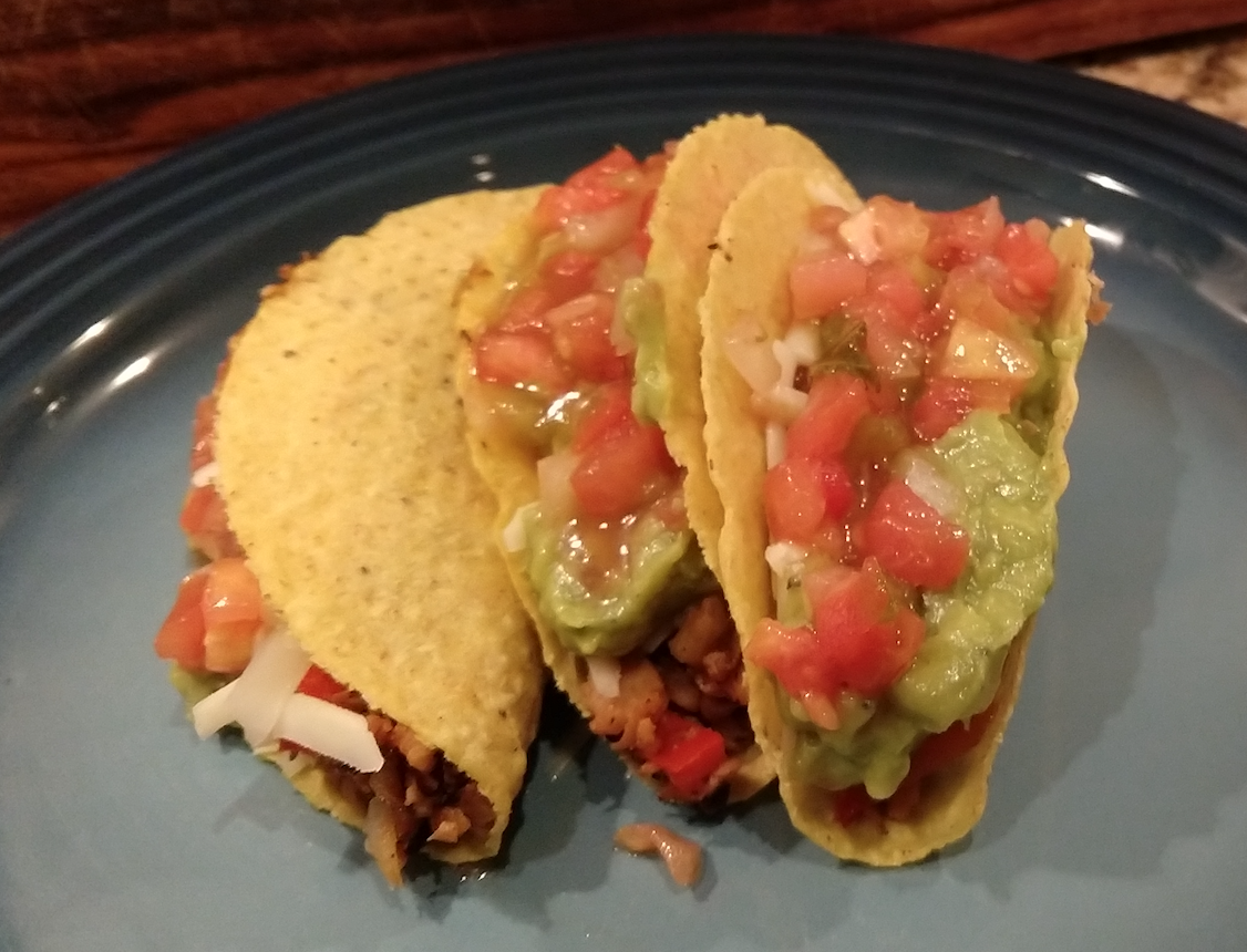 low calories crunchy tacos