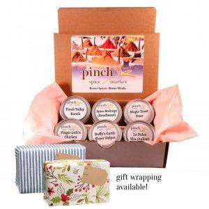 6 best selling organic seasonings gift box