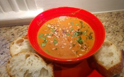 African Peanut Stew made with Ethiopian Berbere