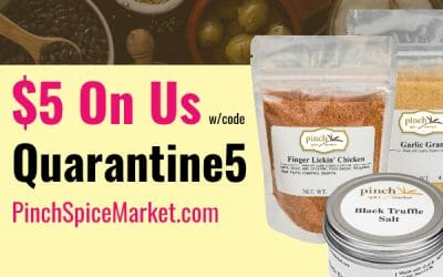 $5 off $25 for Quarantine Meals Fans!