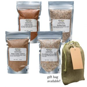 organic spice blends from pinch spice market set of four