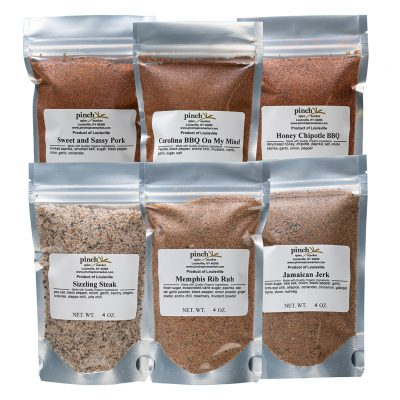six barbecue rubs and mixes
