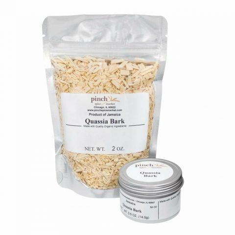 quassia bark for tonics and bitters