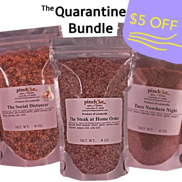 $5 off quarantine spice bundle 3 pack