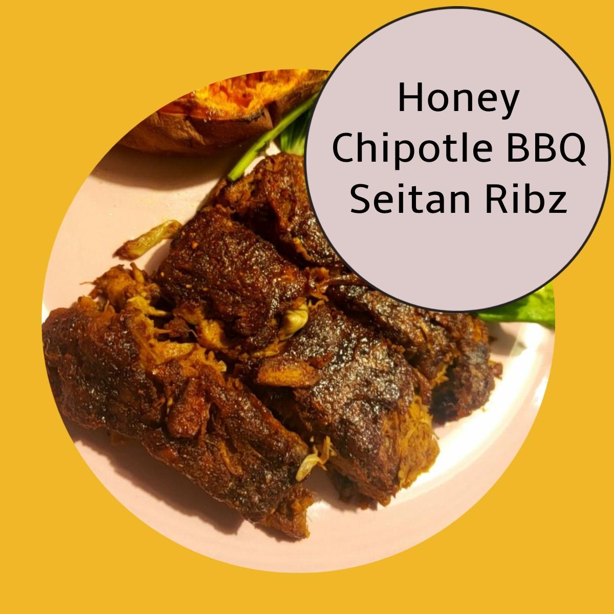 vegetarian seitan ribs chipotle BBQ