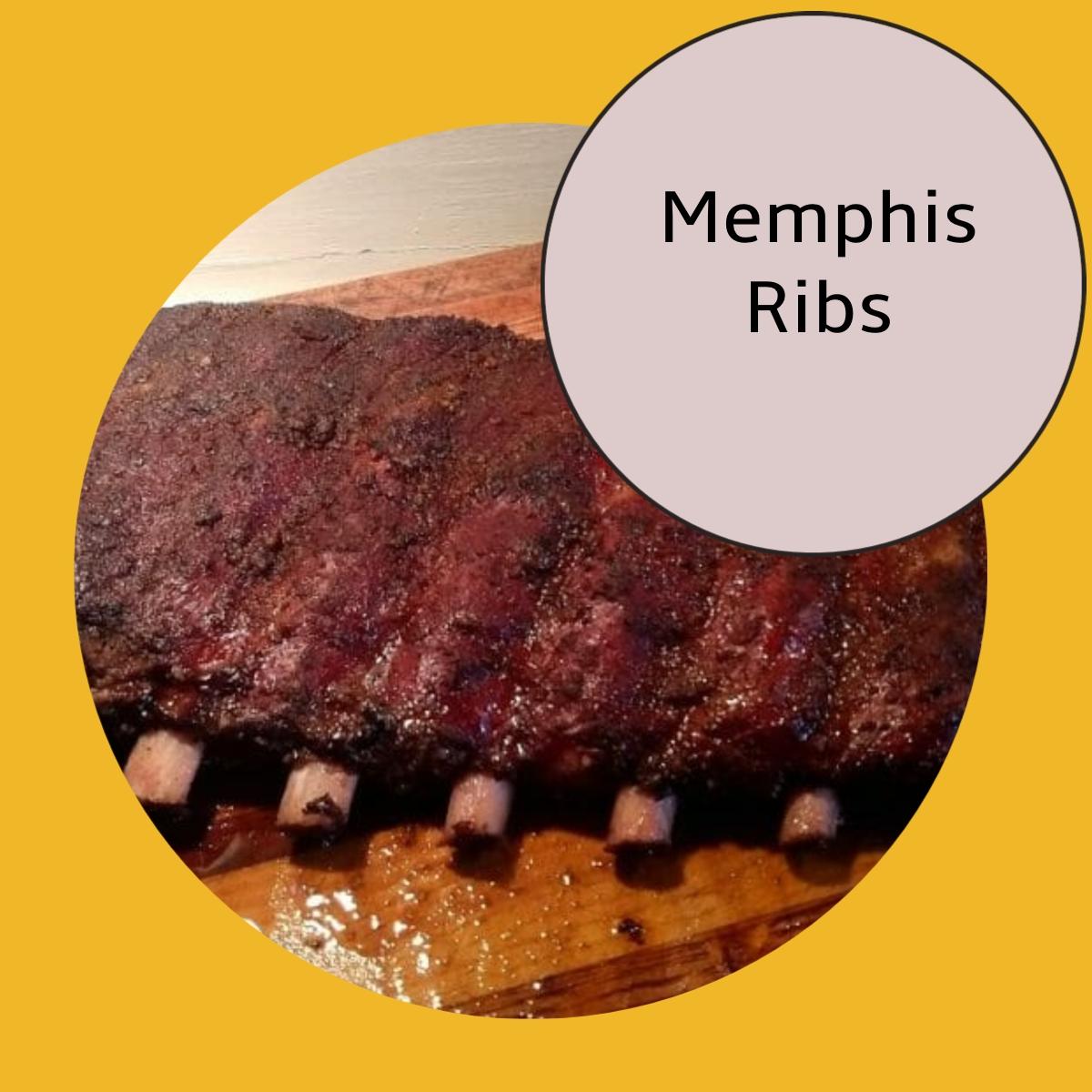 smoked Memphis ribs