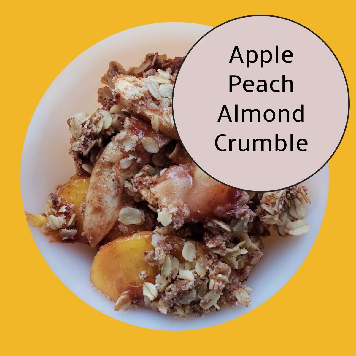 healthy fruit almond dessert