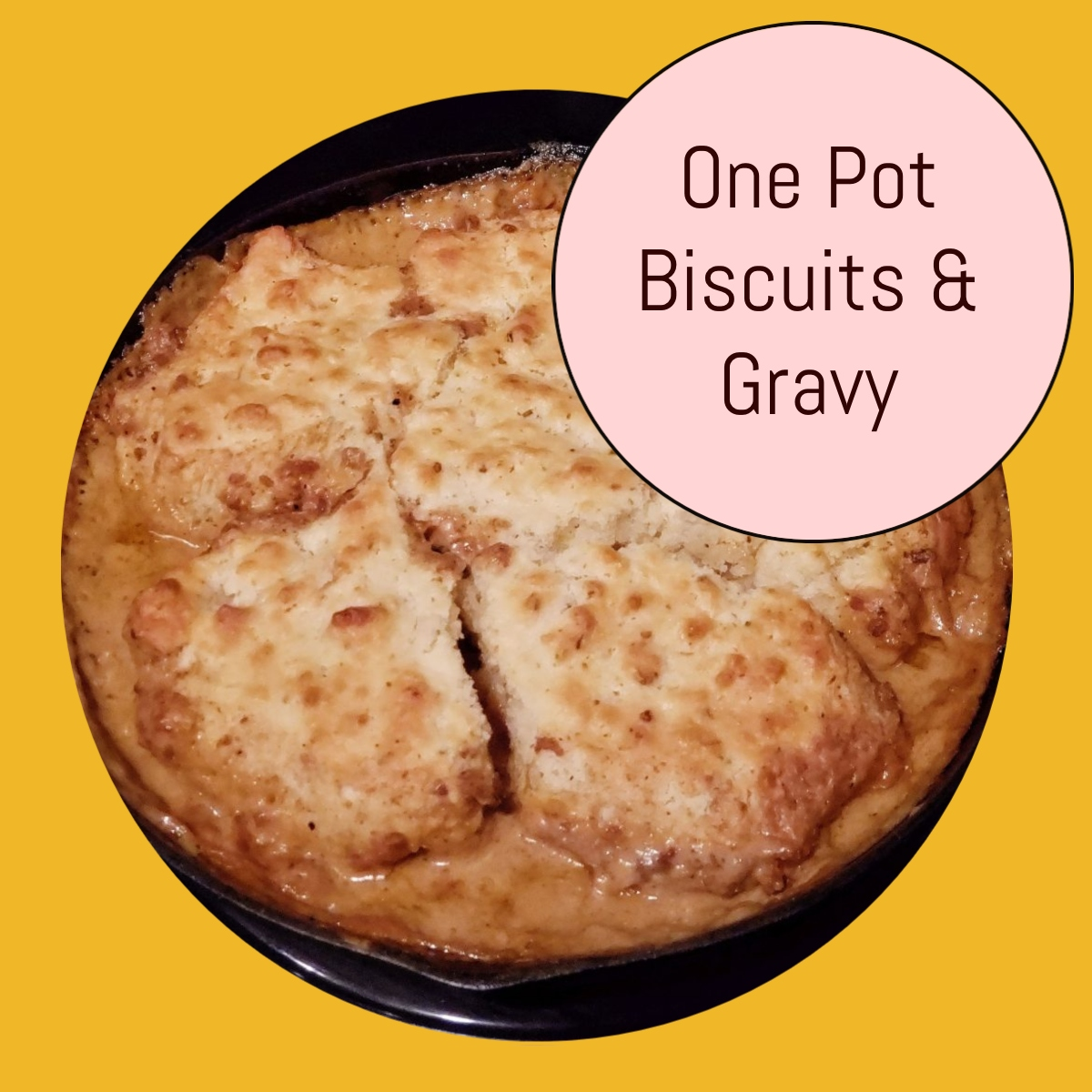 easy biscuits and gravy vegetarian version too