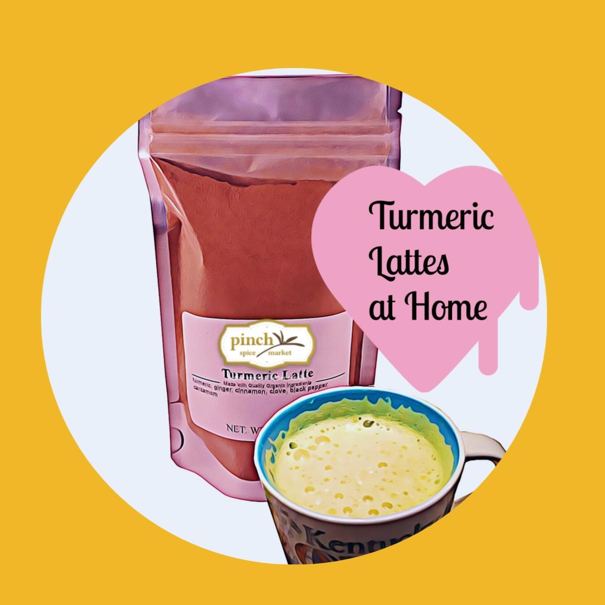 healthy turmeric lattes