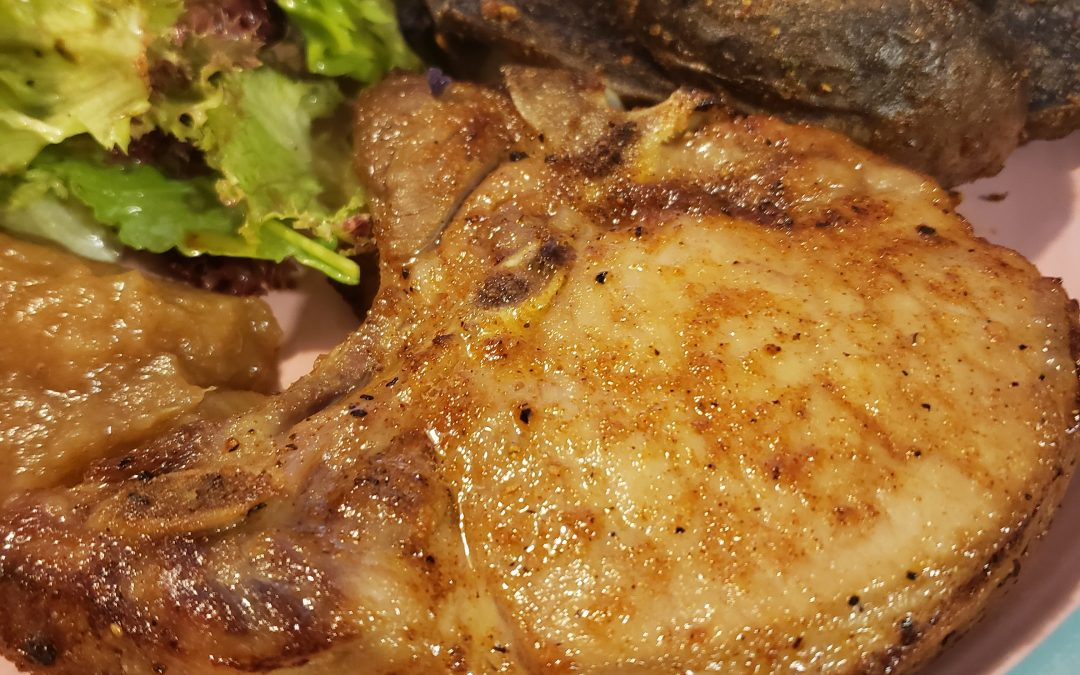 Sweet and Sassy Brined Pork Chops