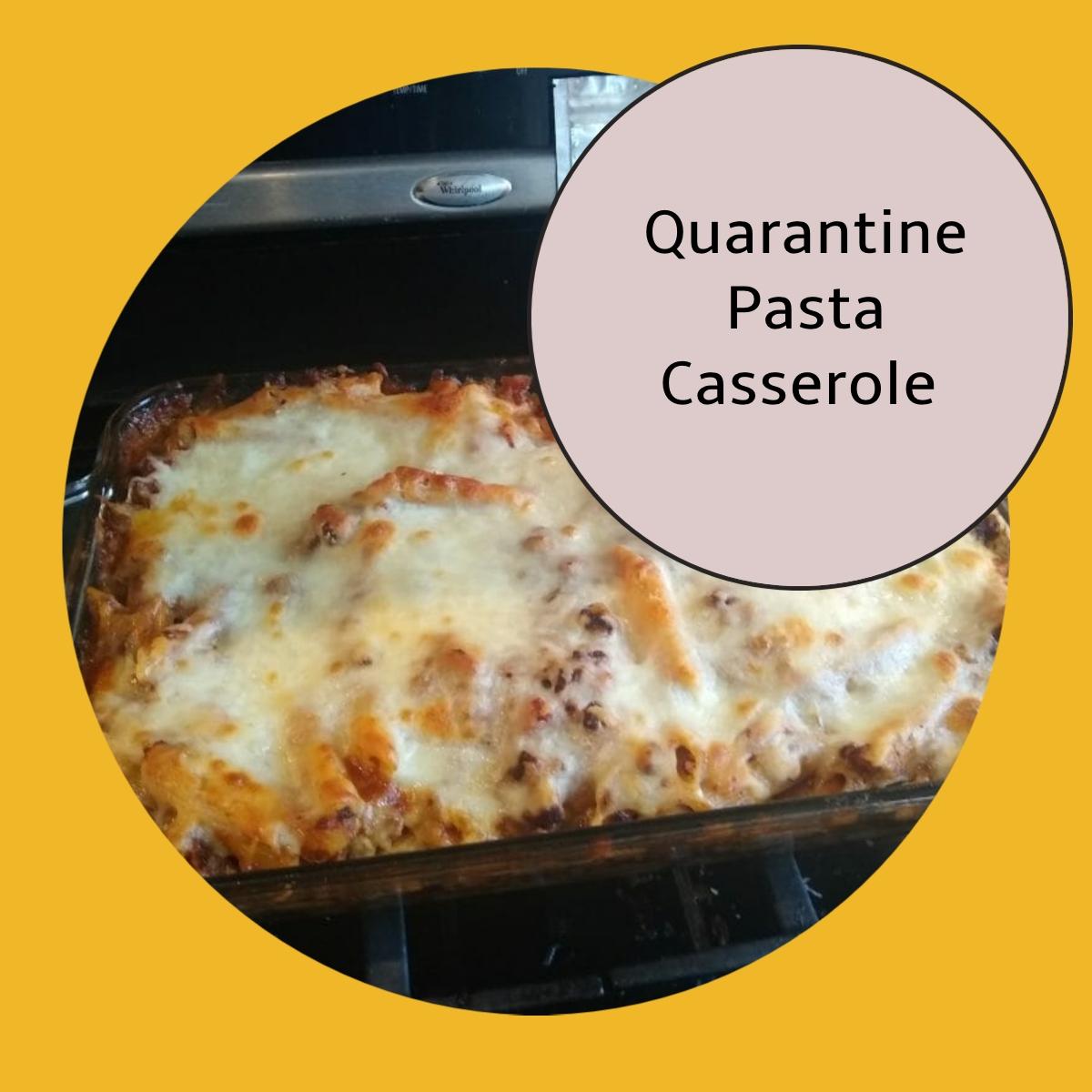 cheesy pasta casserole recipe