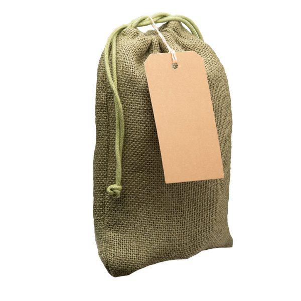 spice burlap gift bag