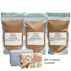 3 pack of pie seasonings organic gift