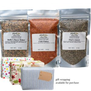 3 organic spices for pizza toppings