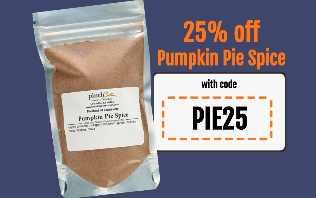 National Pumpkin Pie Spice Day 25% OFF SALE