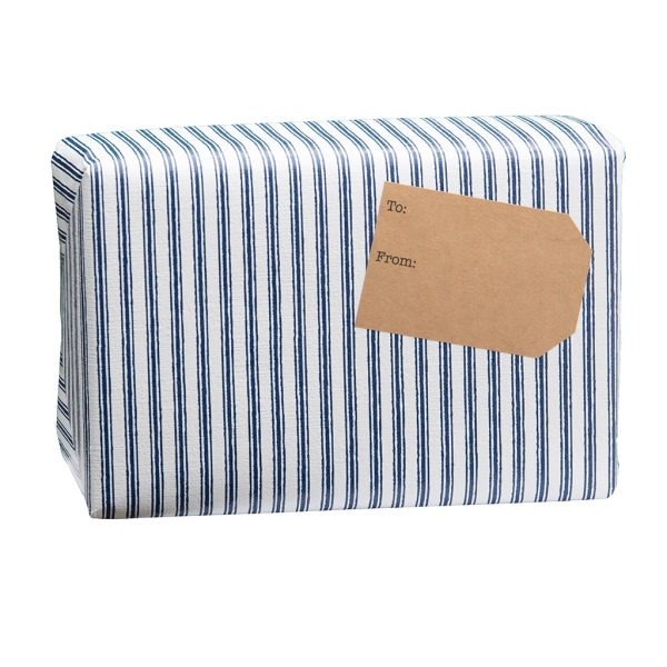 spice gift box blue stripped wrapping paper