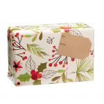 spice gift box wrapped in holly