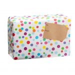 spice gift box wrapped polka dots
