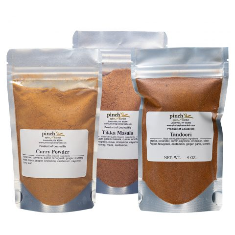 authentic Indian masala three pack curry tikka tandoori