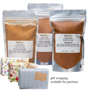 gift set of three organic indian masalas for cooking