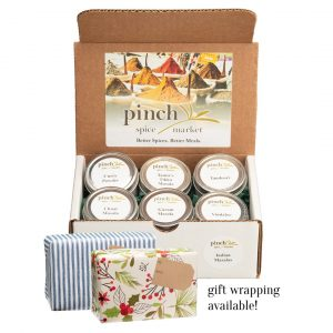 authentic organic Indian spices gift box set of 6