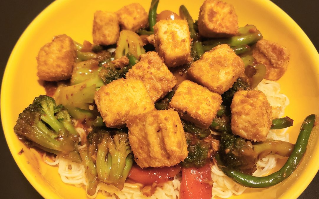 Crispy Tofu Stir Fry with Porcini Salt