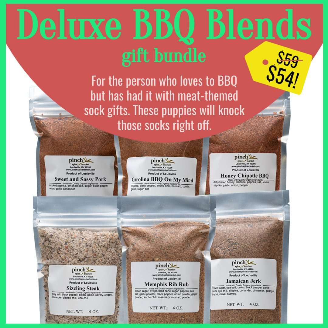 6 pack of barbecue spice blends