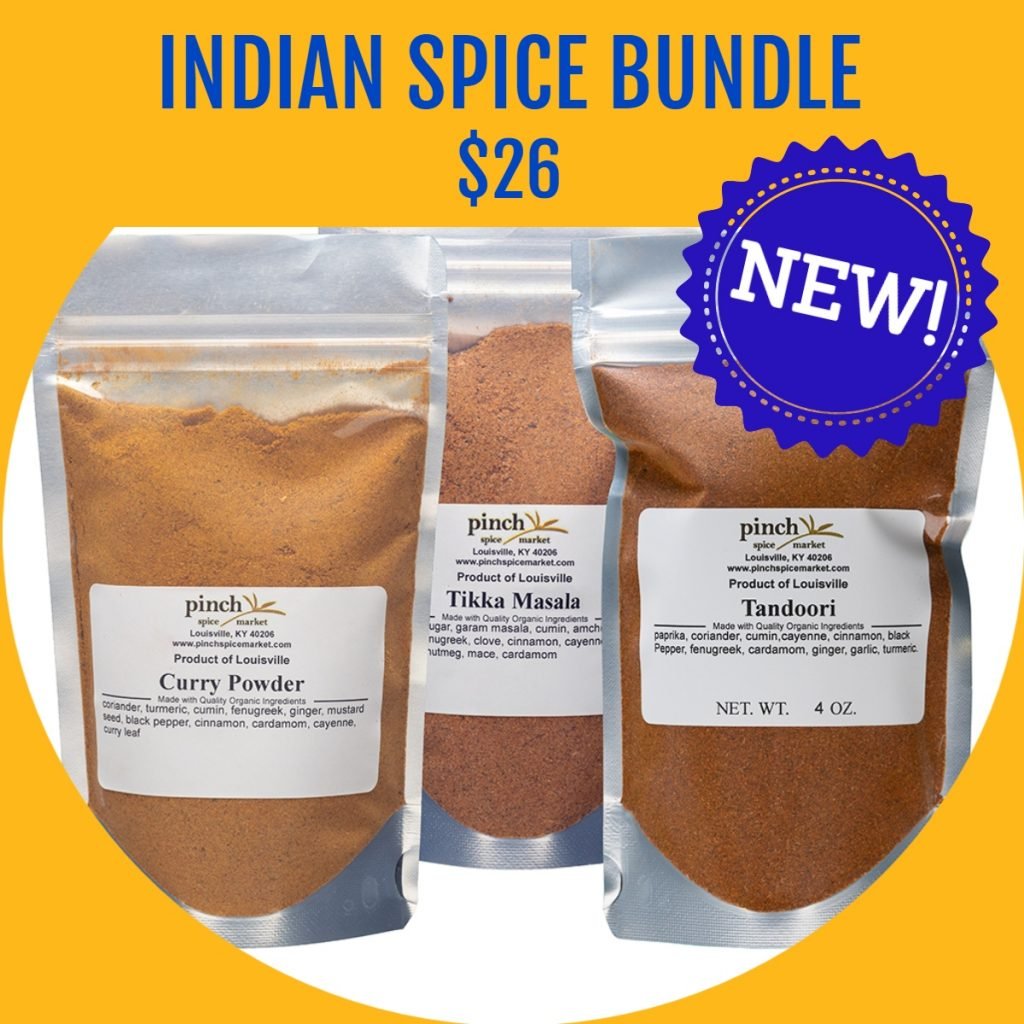 organic Indian spices authentic 3 pack