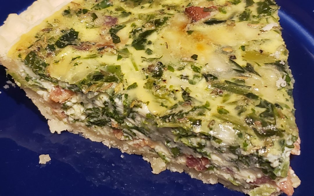 Bacon Spinach Quiche with Herbs de Provence