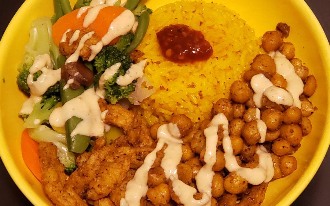 Vegan Baked Tikka Masala Bowl with Turmeric Rice
