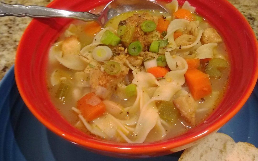 Garlic Lover's Chik'n Noodle & White Bean Vegan/Vegetarian (or Not) Soup