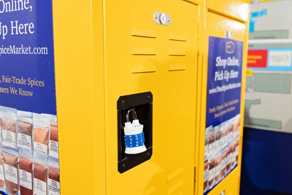 spice pick up lockers yellow with lock