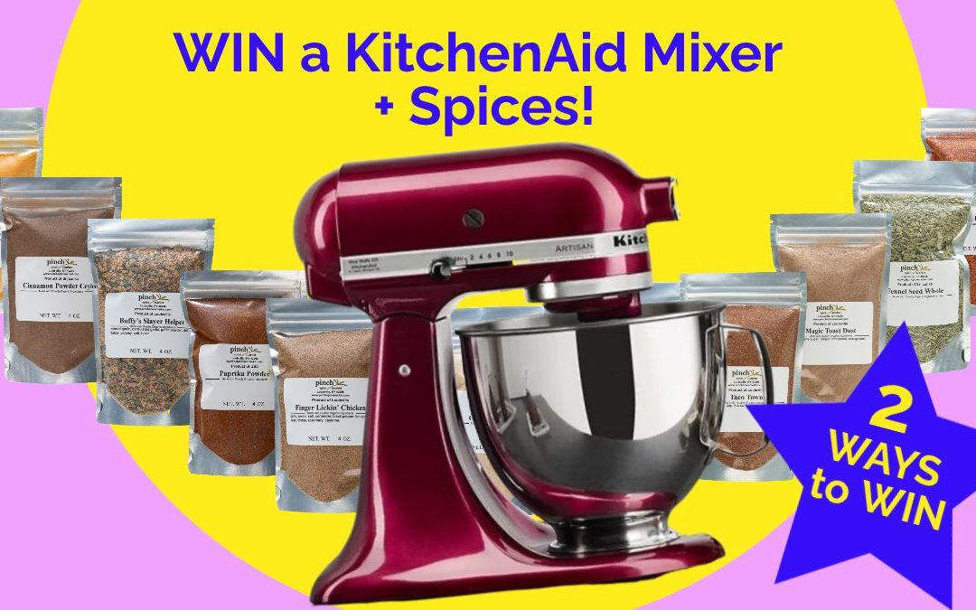 GIVEAWAY: We're Celebrating Our New Spice Vending Machine by Giving Away a KitchenAid Mixer + Spices!