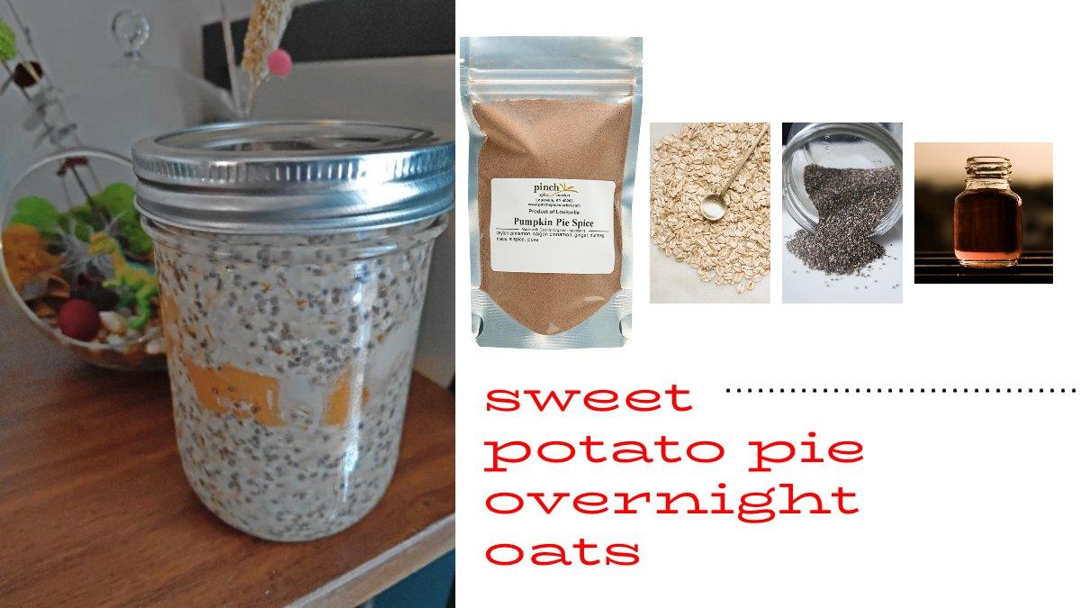 Sweet Potato Pie Overnight Oats