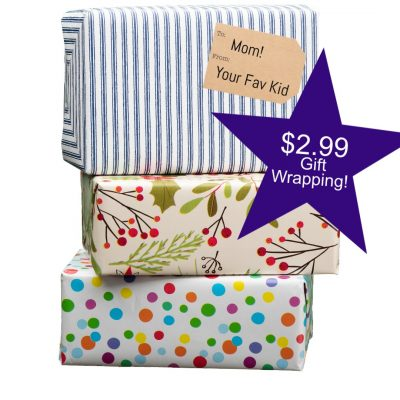 gift wrapping for $2.99