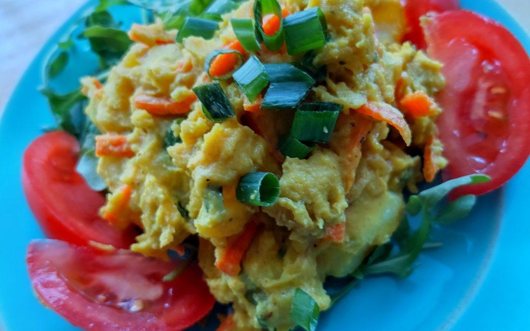 Curry Potato Salad (Gluten Free with Vegan Options)