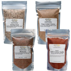 four bbq and meat spices