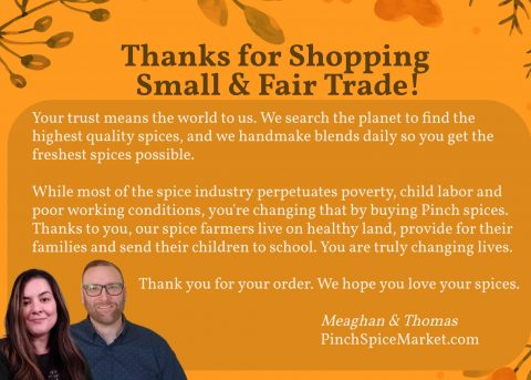 Pinch Spice Market organic spice company