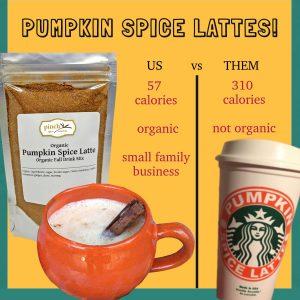 pumpkin spice lattes ours vs starbucks